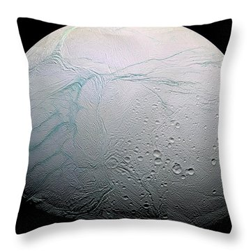 Throw Pillow featuring the photograph Enceladus Hd by Adam Romanowicz