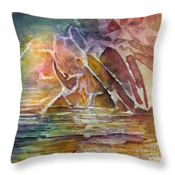 Enchanted Cavern Throw Pillow by Allison Ashton