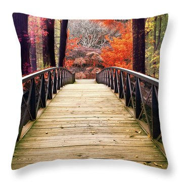 Throw Pillow featuring the photograph Enchanted Crossing by Jessica Jenney