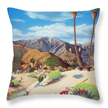 Enchanted Desert Throw Pillow by Snake Jagger