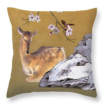 Enchanted Doe Throw Pillow