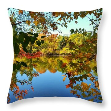 Throw Pillow featuring the photograph Enchanted Fall by Valentino Visentini