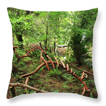 Enchanted Forest Throw Pillow by Aidan Moran