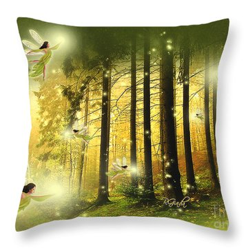 Enchanted Forest - Fantasy Art By Giada Rossi Throw Pillow