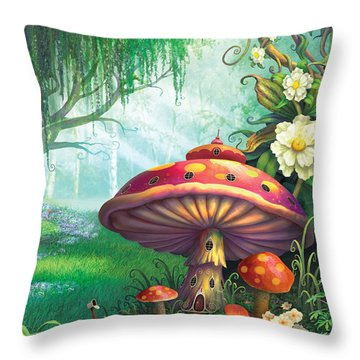 Enchanted Forest Throw Pillow by Philip Straub