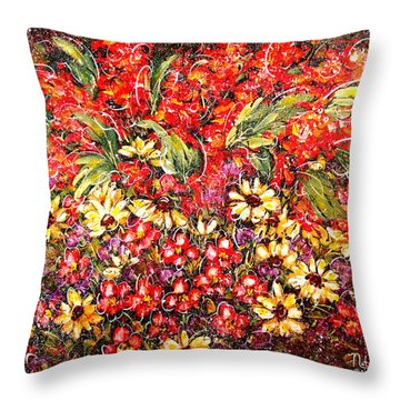 Enchanted Garden Throw Pillow by Natalie Holland