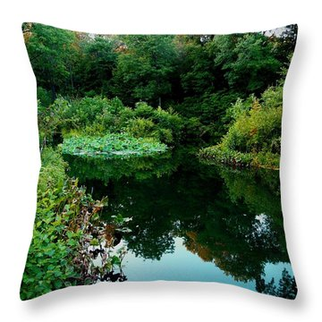 Enchanted Gardens Throw Pillow