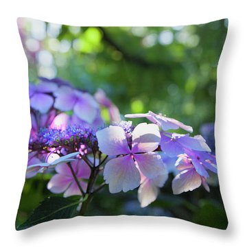 Enchanted Hydrangea Throw Pillow by Theresa Tahara