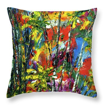 Enchanted Jungle  #167 Throw Pillow by Donald k Hall