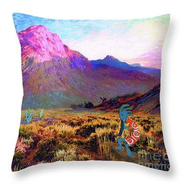 Enchanted Kokopelli Dawn Throw Pillow