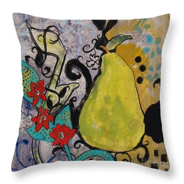 Enchanted Pear Throw Pillow