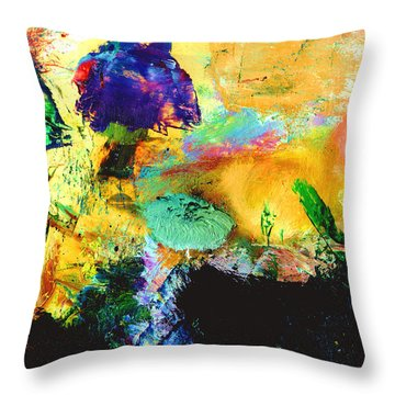Enchanted Reef #306 Throw Pillow by Donald k Hall