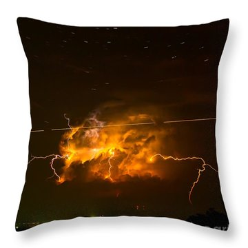 Enchanted Rock Lightning Throw Pillow