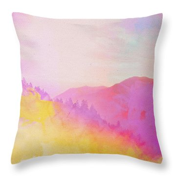 Throw Pillow featuring the digital art Enchanted Scenery #2 by Klara Acel