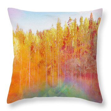 Throw Pillow featuring the digital art Enchanted Scenery #3 by Klara Acel