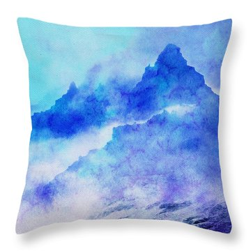 Throw Pillow featuring the digital art Enchanted Scenery #4 by Klara Acel