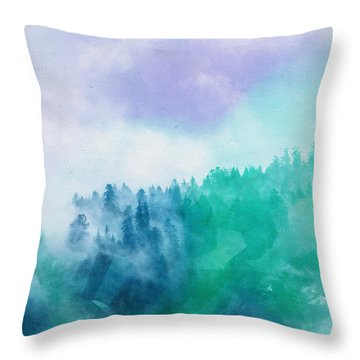 Throw Pillow featuring the photograph Enchanted Scenery by Klara Acel