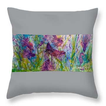 Enchanted Sealife Party Throw Pillow