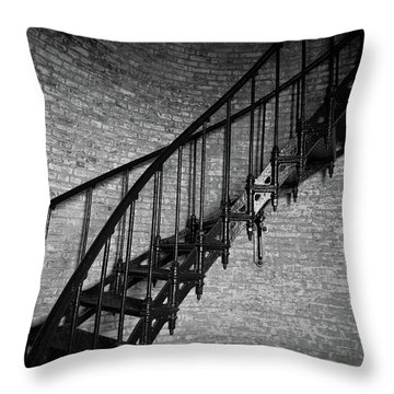 Enchanted Staircase II - Currituck Lighthouse Throw Pillow