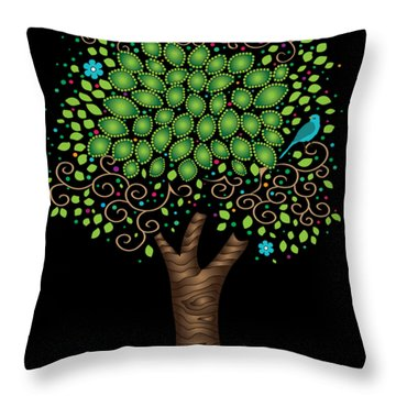 Enchanted Tree Throw Pillow by Serena King