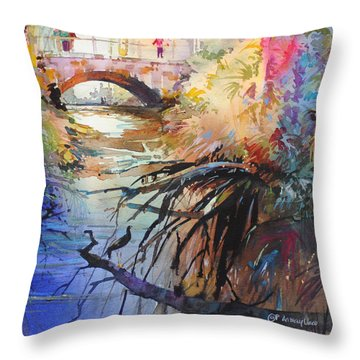 Enchanted Waters Throw Pillow