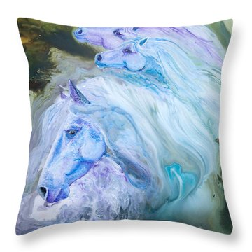Enchanted Waters Throw Pillow by Sherry Shipley