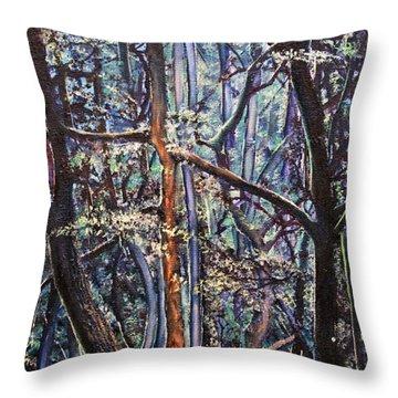 Enchanted Woods Throw Pillow