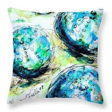 Enchanthing Sea Urchins Throw Pillow
