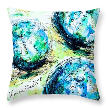 Throw Pillow featuring the painting Enchanthing Sea Urchins by Monique Faella