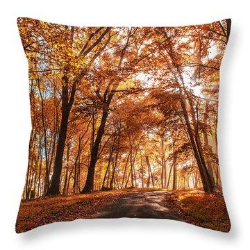 Enchanting Fall Throw Pillow
