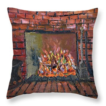 Enchanting Fire Throw Pillow