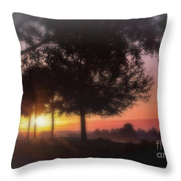Enchanting Morning Sunrise Throw Pillow