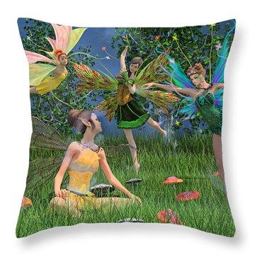 Enchanting Souls Throw Pillow