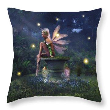 Enchantment - Fairy Dreams Throw Pillow by Melissa Krauss