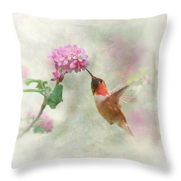 Throw Pillow featuring the photograph Enchantment In The Garden by Angie Vogel
