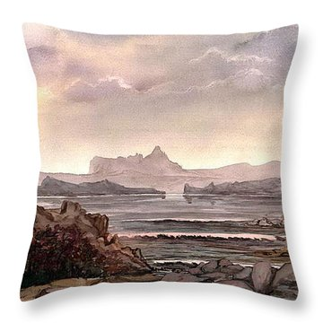 Throw Pillow featuring the painting Enchantment by Mikhail Savchenko