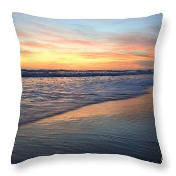 Encinitas Blue  Throw Pillow