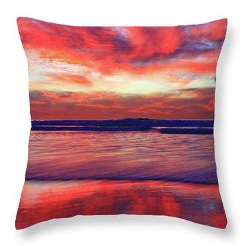 Encinitas Energy Afterglow Throw Pillow