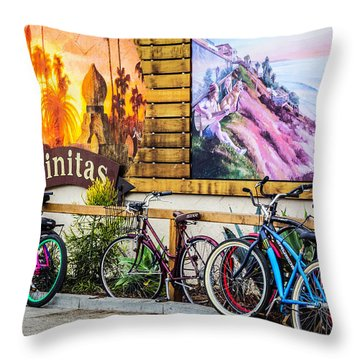 Bicycle Parking Throw Pillow