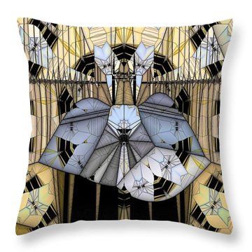 Enclosed Throw Pillow by Ron Bissett