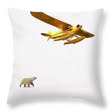 Throw Pillow featuring the digital art Encounter In Alaska by Edward Fielding