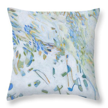 Throw Pillow featuring the painting Encounter With An Angel by Linda Cull