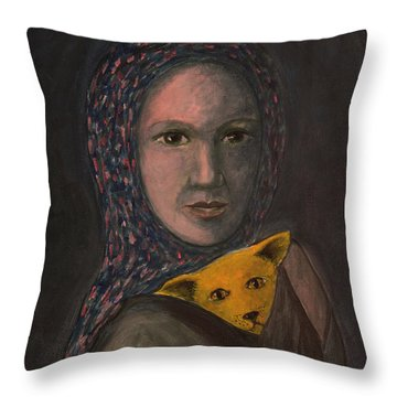 Encountering I Am Throw Pillow