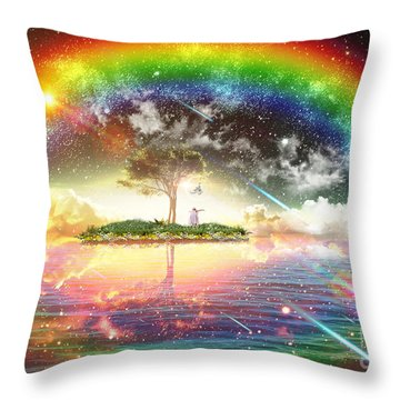 Encountering The Holy Spirit Throw Pillow by Dolores Develde