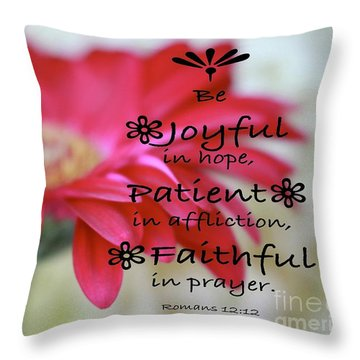 Encouragement Throw Pillow