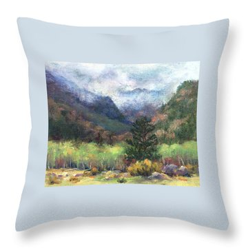 Encroaching Clouds Throw Pillow by Jill Musser