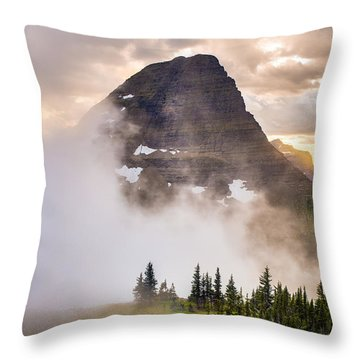 Encroaching Fog Throw Pillow