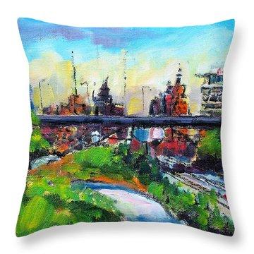 Encroaching Parkland Throw Pillow