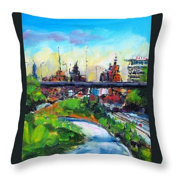 Encroaching Parkland Throw Pillow