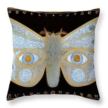 Encryption Throw Pillow by Laurie Stewart